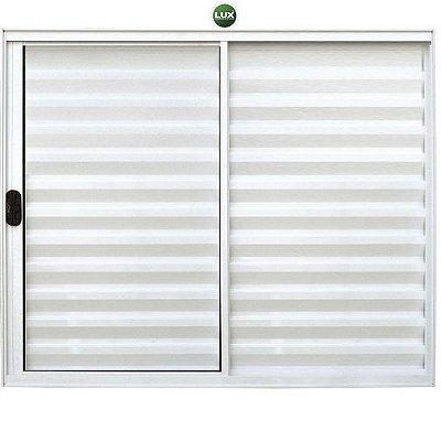 Oferta - Janela Veneziana em Alumínio Branco 3 Folhas Uma Fixa Vidro Liso Incolor 1,20 X 1,20 - Linha Normatizada Lux - Ultimas Peças