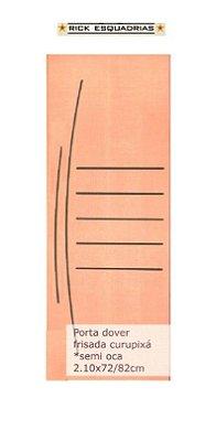 Folha de Porta de Abrir (Giro) Dover em Madeira Lisa Semi Oca Encabeçada Curupixá Para Verniz e Pintura  - Rick Esquadrias