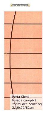 Folha de Porta de Abrir (Giro) Clone em Madeira Semi Oca Lisa Encabeçada Curupixá Para Verniz e Pintura  - Rick Esquadrias