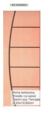 Folha de Porta de Abrir (Giro) Belíssima em Madeira Lisa Semi Oca Encabeçada Curupixá Para Verniz e Pintura  - Rick Esquadrias