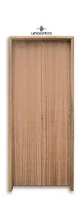 Porta Camarão em Madeira Lisa Imbuia com Puxador - Batente de 14 Cm Uniportas