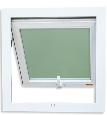 Janela Maxim-ar PVC Branco 1 Seção Vidro Mini Boreal - Brimak iTEC