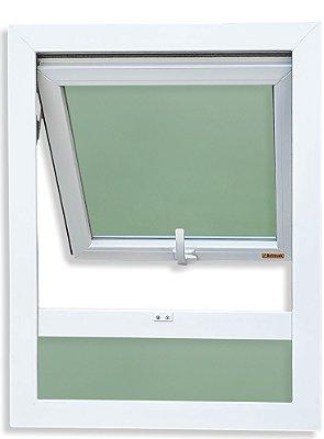 Janela Maxim-ar PVC Branco 1 Seção C/Bandeira Inf. Fixa Vidro Mini Boreal - Brimak iTEC
