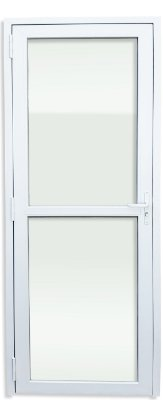 Porta PVC Branco 2 Vidros Temperados - Brimak iTEC