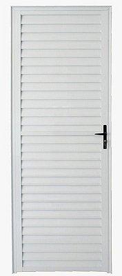Porta de Abrir (Giro) em Alumínio Branco Palheta Sem Ventilação - Linha 25 - ESAX