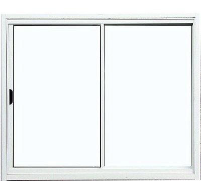 PRONTA ENTREGA - Janela de Correr em Alumínio Branco 2 Folhas Uma Fixa Vidro Liso Incolor - Linha Normatizada Lux Esquadrias