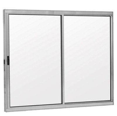 PRONTA ENTREGA - Janela de Correr em Alumínio Brilhante 2 Folhas uma Fixa Vidro Liso Incolor - Linha Modular Esap