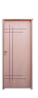 Porta de Abrir (Giro) Passione Cuxupirá Riscada Batente de 11 cm com Fechadura e Maçaneta Externa Stam Cromada- Uniportas