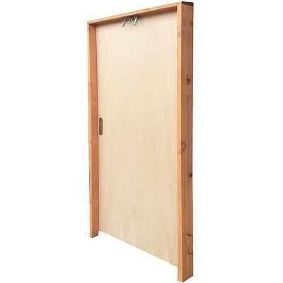 PRONTA ENTREGA - Porta de Abrir (Giro) em Madeira Lisa Amescla Para Pintura Batente de 9 cm com Fechadura e Maçaneta Interna - Rick Esquadrias