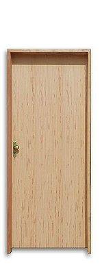 Porta de Abrir (Giro) em Madeira Lisa Angelim para Verniz e Pintura Batente de 11 cm com Fechadura e Maçaneta Externa Rafinata - Uniportas