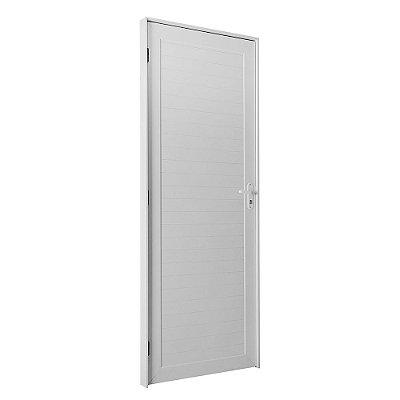 Porta De Abrir (Giro) em Alumínio Branco Com Lambril - Linha TopSul - L30 - Esquadrisul