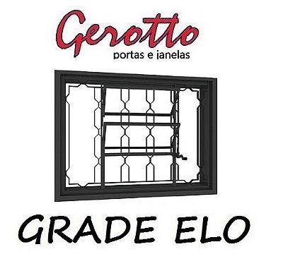 Janela Basculante em Aço com (3 opções de grades) sem Vidro - Requadro 12 cm - Linha Prata Gerotto