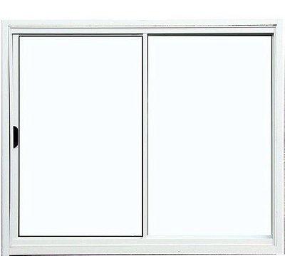 Janela de Correr em Alumínio Branco 2 Folhas Uma Fixa Vidro Liso Incolor - Linha Normatizada Lux Esquadrias