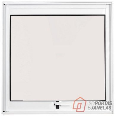 Janela Maxim-ar em Alumínio Branco uma Seção sem Grade Vidro Mini Boreal - Linha Max Lux Esquadrias