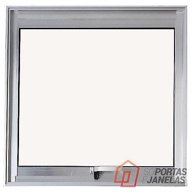 PRONTA ENTREGA - Janela Maxim-ar em Alumínio Brilhante uma Seção sem Grade Vidro Mini Boreal - Linha Max Lux Esquadrias