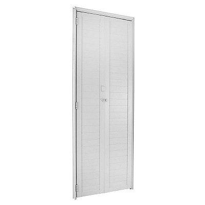 PRONTA ENTREGA - Porta Camarão em Alumínio Branco Com Lambril - FortSul L25 - Esquadrisul