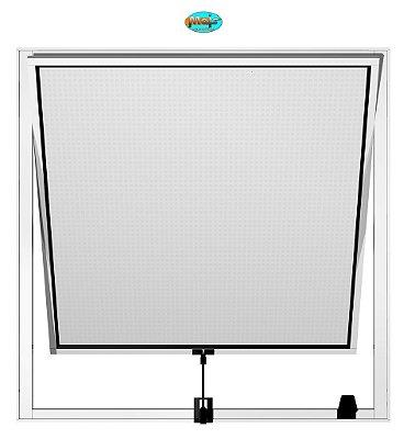 Janela Maxim-ar em Alumínio Branco Uma Seção Vidro Mini Boreal - Linha 16 Mais Esquadrias