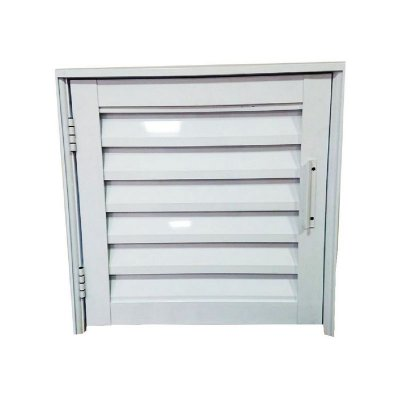 Abrigo em alumínio Branco com Trinco com Ventilação - Lux Esquadrias