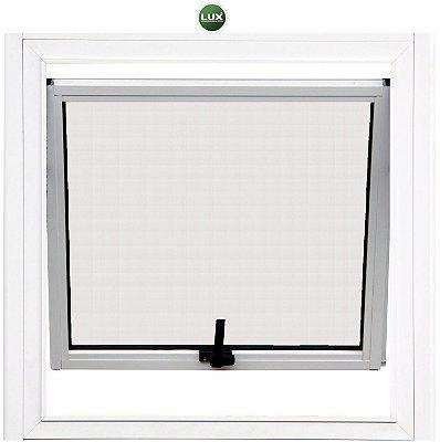 Janela Maxim-ar em Alumínio Branco uma Seção Vidro Mini Boreal - Linha 25 Lux
