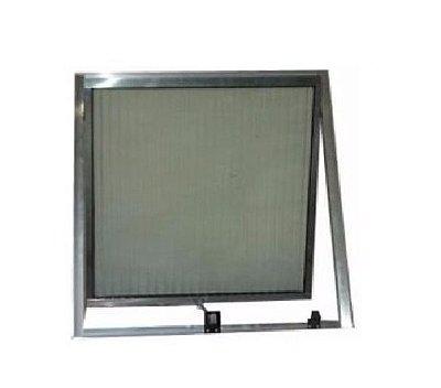 Janela Maxim-ar em Alumínio Fosco Uma Seção com Limitador Vidro Mini Boreal - Esap