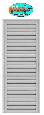 Porta de Abrir (Giro) em Alumínio Branco Palheta Sem Ventilação - Linha 25 Mais Esquadrias