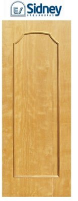Porta de Abrir (Giro) Montada Es-01 Imbuia Moldurada lado Externo. Fechadura e Maçaneta Roseta Externa Batente de 14 cm - Sidney Esquadrias