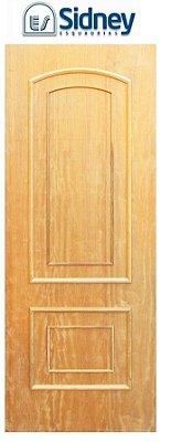 Porta de Abrir (Giro) Montada Es-11 Imbuia Moldurada lado Externo. Fechadura e Maçaneta Roseta Externa Batente de 14 cm - Sidney Esquadrias