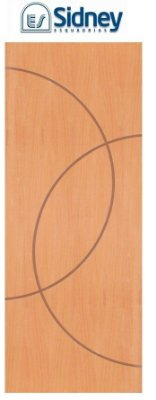 Porta de Abrir (Giro) Montada ES68 Padrão Imbuia Riscada Fechadura e Maçaneta Roseta Externa Batente de 12 cm - Sidney Esquadrias