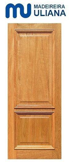 Folha de Porta de Abrir (Giro) em Madeira Cedro Arana Maciça Super Almofada - Uliana