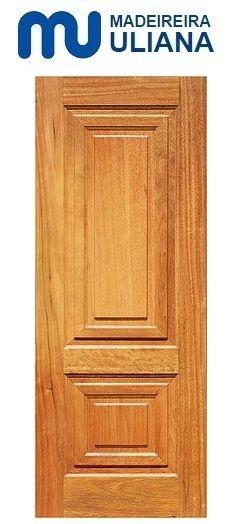 Folha de Porta de Abrir (Giro) em Madeira Cedro Arana Maciça Prata Lisa - Uliana