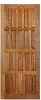 Folha de Porta de Abrir (Giro) em Madeira Tauarí Maciça 16 Almofada - Mapaf