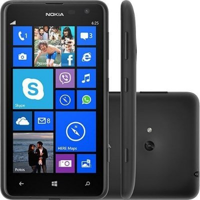 """Nokia Lumia 625, 4G,  Processador 1.2GHz dual core ,Tela Touchscreen 4.7"""" 8G"""