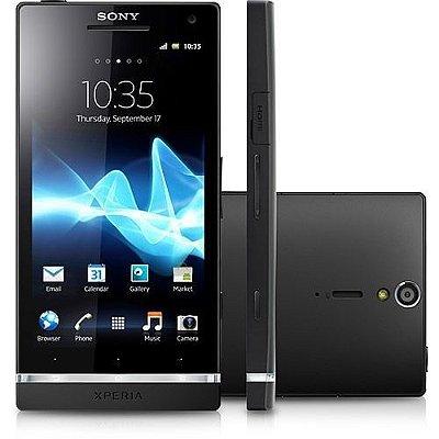 """Sony Xperia S Tela de 4,3"""", Câmera 12.1MP, Processador Dual Core, Android 2.3, 3G, Wi-Fi, aGPS, Touch e Bluetooth"""