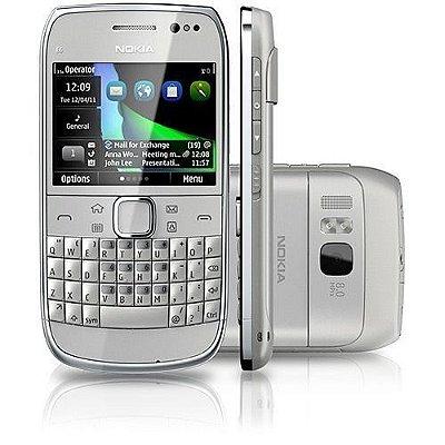 """Smartphone Nokia E6 Prata Desbloqueado Symbian, Câmera de 8MP, 3G, Wi-Fi, Tela 2,46"""", 8GB"""