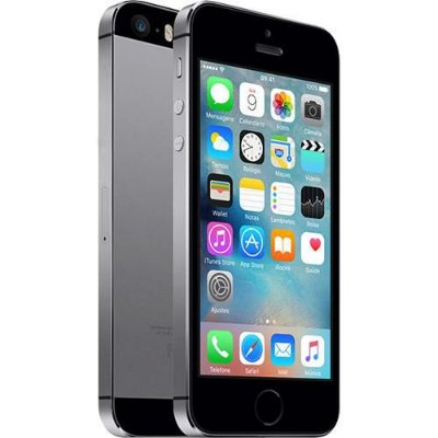 "iPhone 5S 16GB Cinza Espacial Tela 4"" IOS 8 4G Câmera de 8MP - Apple"