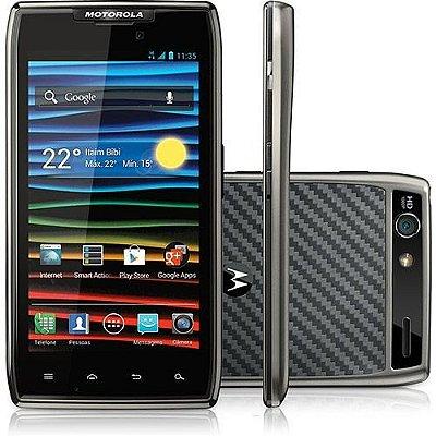 "Motorola Razr MAXX GSM Titâneo Tela AMOLED Advanced 4.3"" Android Câmera de 8MP Gravação Full HD 3G Wi-Fi Bluetooth GPS"