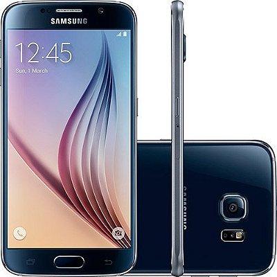 "Samsung Galaxy S6 G920I Android 5.0 Processador Octa-Core Tela AMOLED 5.1"" 32GB Wi-Fi 4G Câmera de 16MP - PRODUTO REEMBALADO"