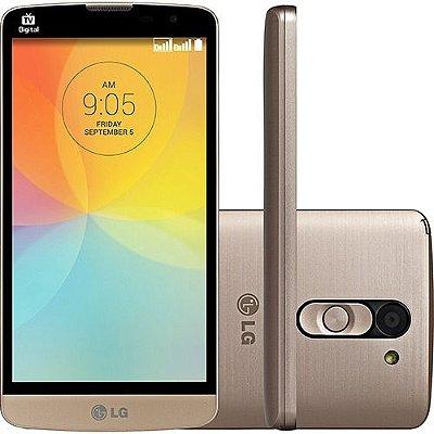 """LG L Prime D337 Dual Chip Android 4.4 Kit Kat Tela 5"""" 8GB 3G Wi-Fi Câmera 8MP - Dourado"""