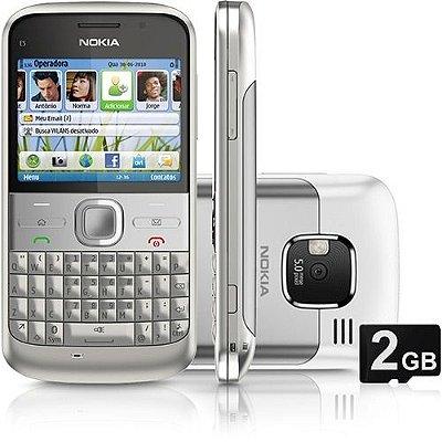 Smartphone Nokia E5 3G Câmera 5MP  Filmadora MP3 Player Rádio FM Bluetooth