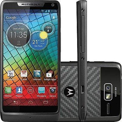 """Motorola RAZR i Intel® de 2 GHz Tela de 4.3"""" Android 4.0 Câmera 8MP, Wi-Fi, 3G, NFC, GPS e Bluetooth - PRODUTO REEMBALADO"""