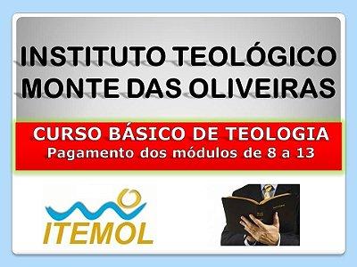 Curso Básico de Teologia - Pagamento dos módulos de 8 a 13
