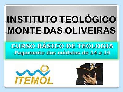 Curso Básico de Teologia - Pagamento dos módulos de 14 a19