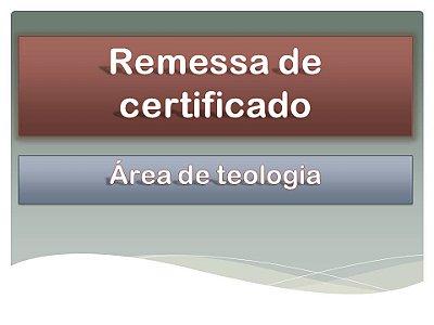 Requerimento - Certificado e Histórico Escolar - Área de Teologia