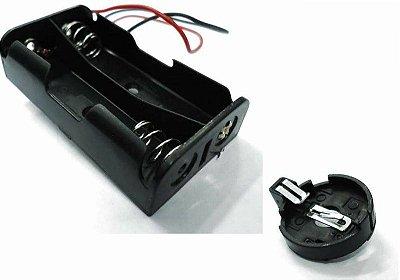 Suportes para pilhas e baterias