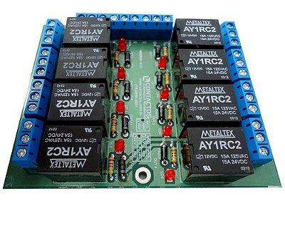 Placa Interface Rele 8 Saídas, Placa Para Automação - CONTACTOS