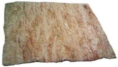 Tapete em Couro Legitimo Lã de Carneiro  em Tear  2,60 x 2,00 m