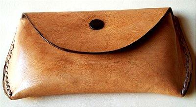 Clutch Minimalista Porta Óculos ou Celular com Costura à Mão