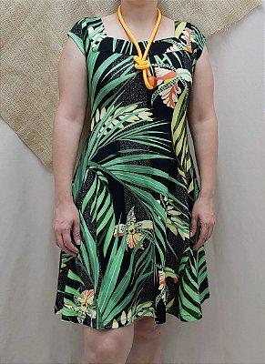 Vestido estampa tropical