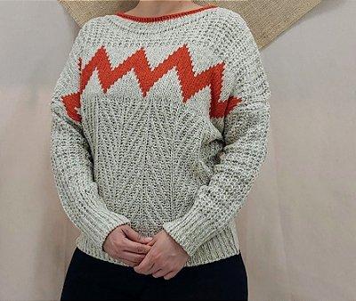 Blusa de trico areia