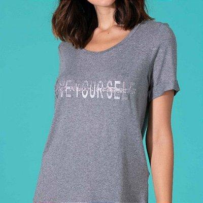 T-shirt cinza clara